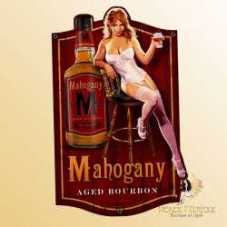Plaque Metal Vintage Whisky & Sex