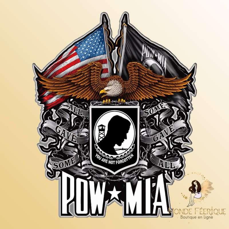 Plaque Metal Forces Armées US MIA