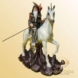 Figurine Fee Mage avec Licorne