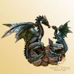 Figurine de Dragons Famille