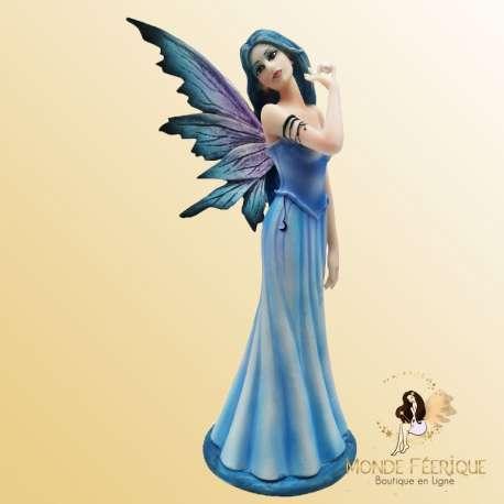 statuette fée bleu