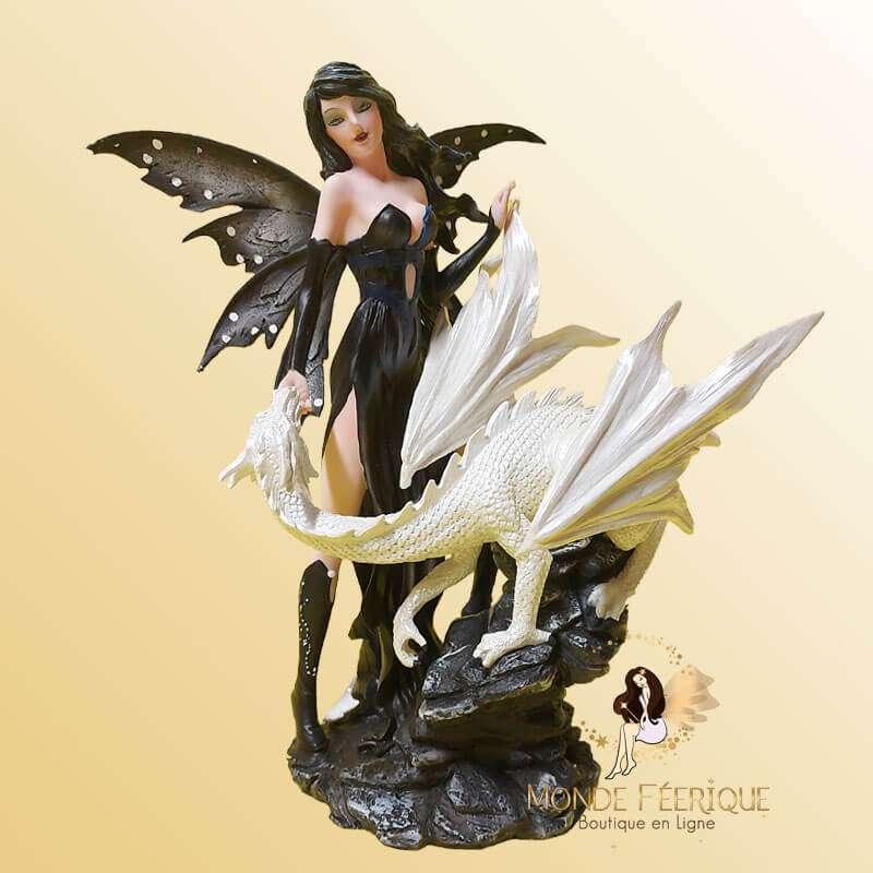 Statuette Fée Dragon Dark & Bright 1
