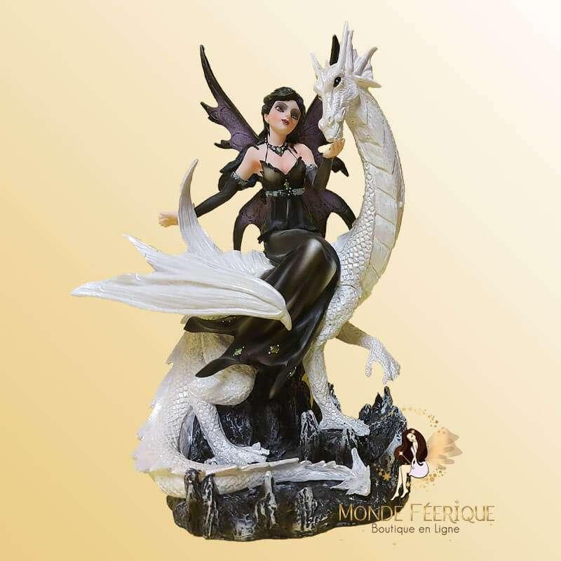 Statuette Fée Dragon Dark & Bright 3