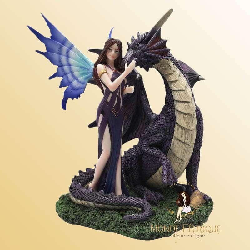Statuette Fée Dragon Frivole 35cm