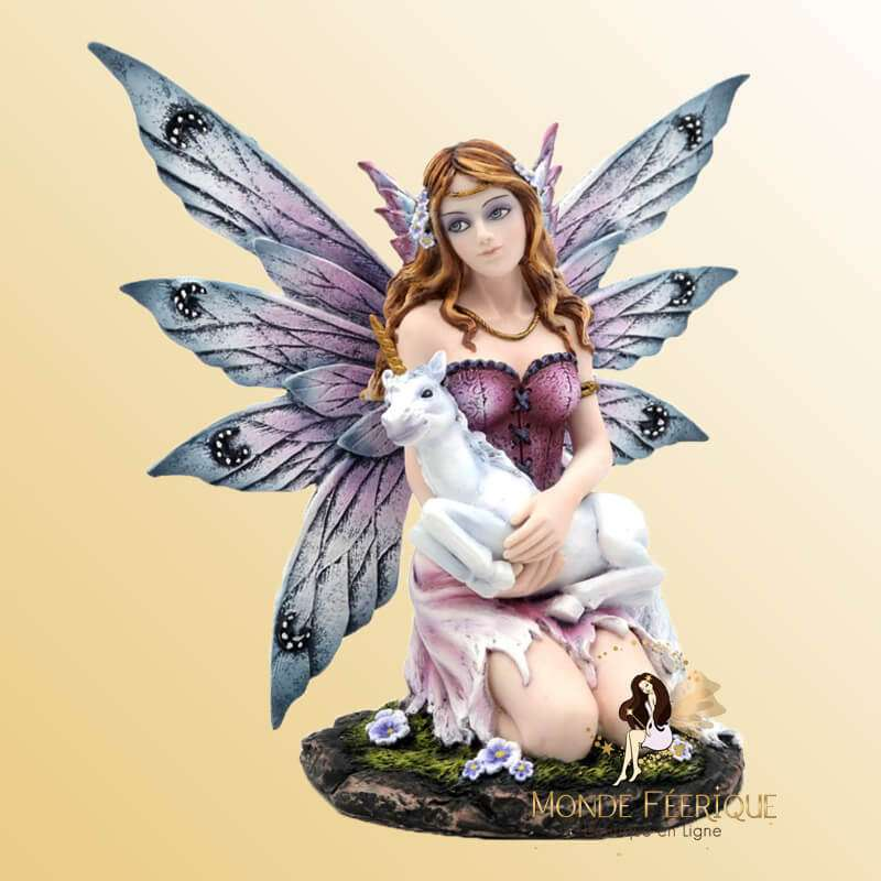 Statuette Fée Licorne L enfance