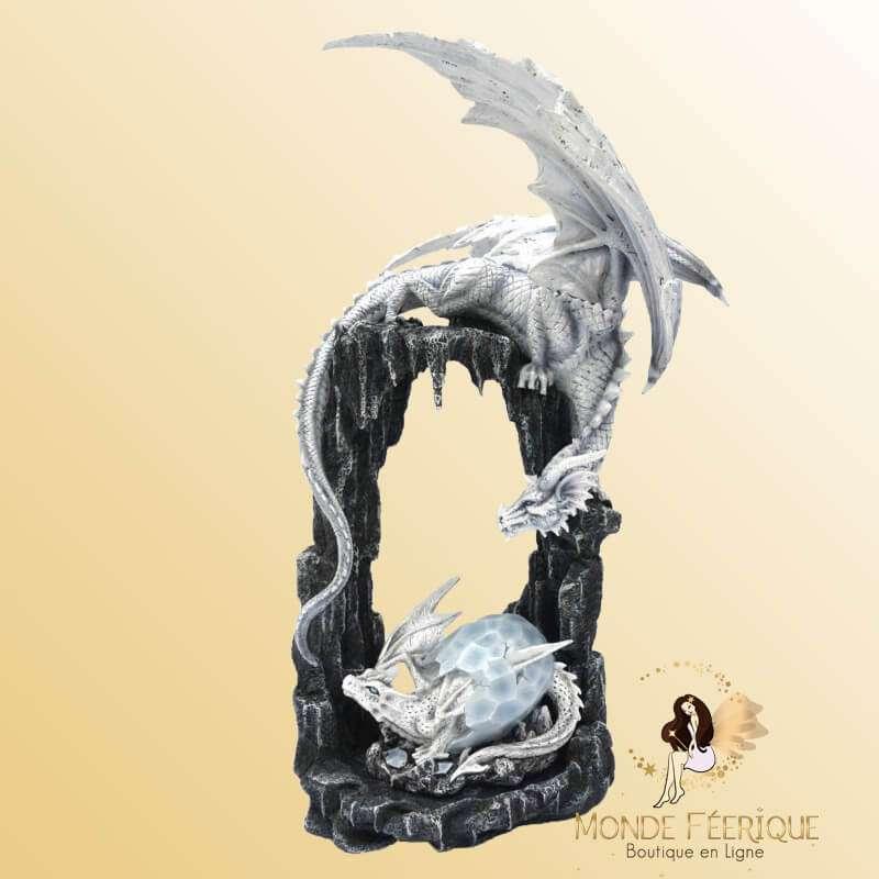 Figurine Dragon Géant Blanc Meta