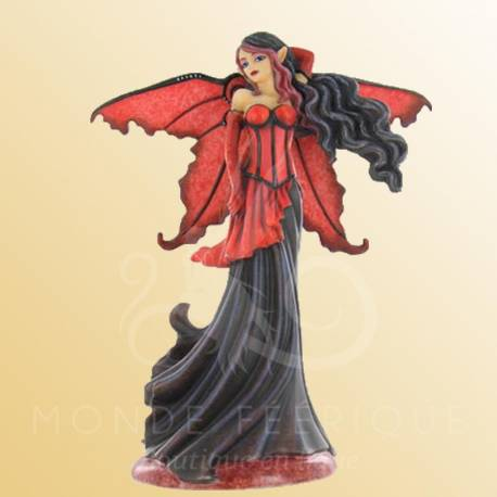 vente figurine fee rouge