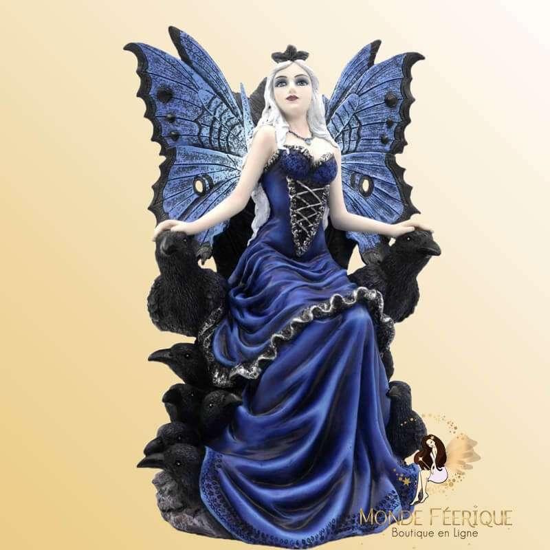 Statuette Fée Bleue Les Corbeaux
