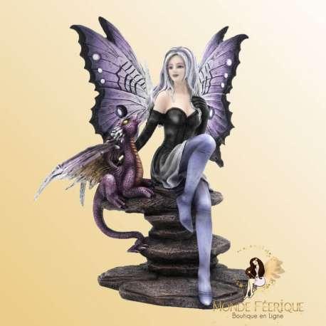 fée avec dragon