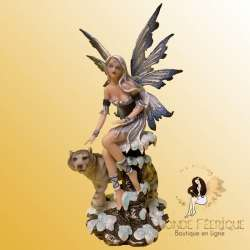 "Figurine Fee ""Amour des Tigres des Neiges"""