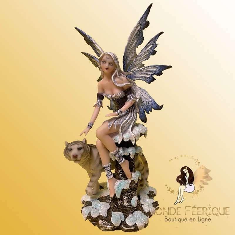 """Figurine Fee """"Amour des Tigres des Neiges"""""""