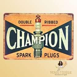 Plaque décoration vintage Champion