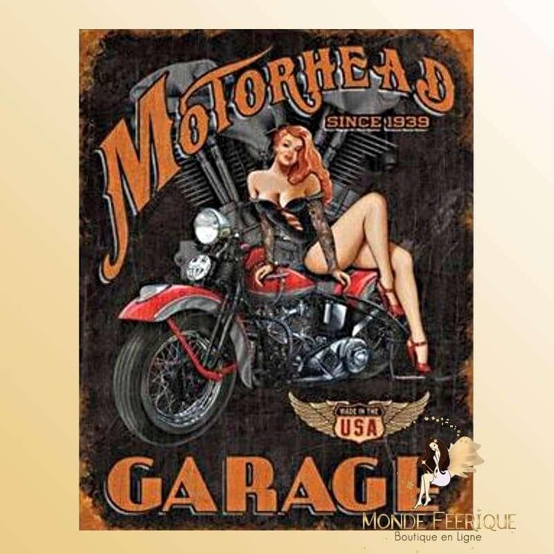 Plaque Vintage Garage USA Vida MOTORHEAD