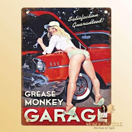 Plaque Vintage Mécanicienne