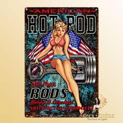 Plaque Vintage American Hot Rod