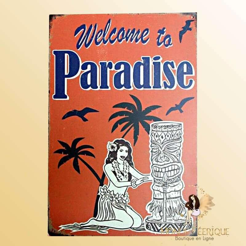 Plaque vintage Hawai Paradis