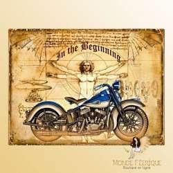Plaque Vintage Moto Leonard