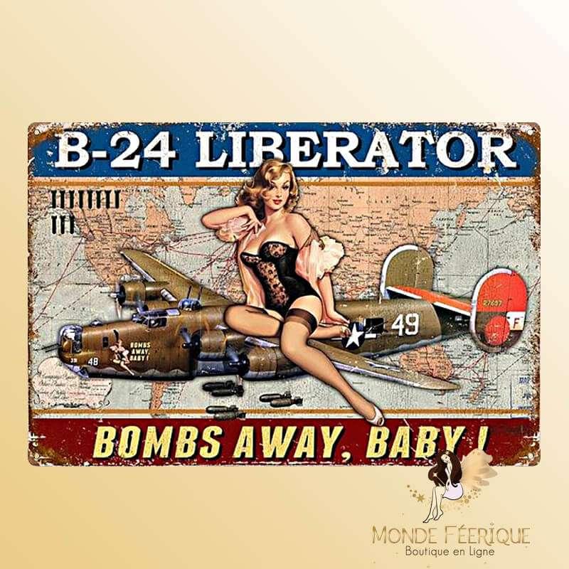 Plaque vintage B24 Liberator