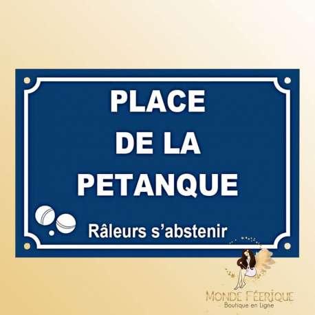 Plaque de decoration Petanque