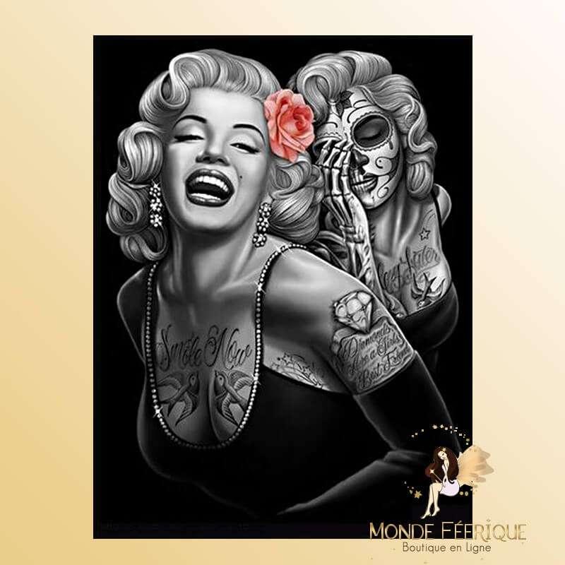 Plaque Vintage Monroe Double