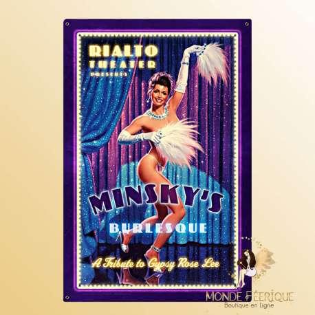 Plaque Vintage cabaret Gipsy rose lee