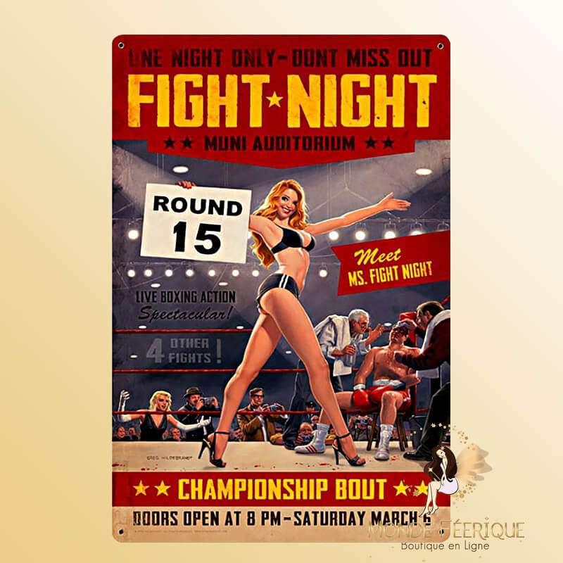 Plaque vintage Fight night