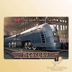Plaque vintage décoration Trains