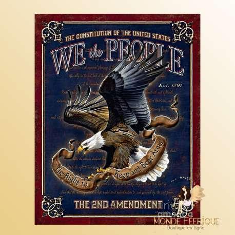 Plaque Vintage constitution americaine