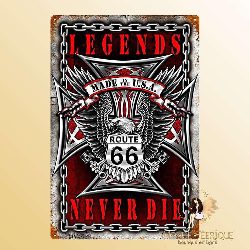Plaque Vintage USA Legende