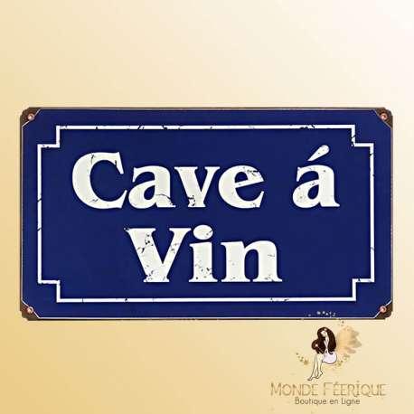 Plaque Vintage Cave à vin