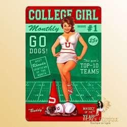 "Plaque vintage ""College Girl"""
