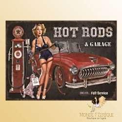 Plaque Vintage Hot Rods Garage