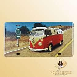 Plaque Vintage Van