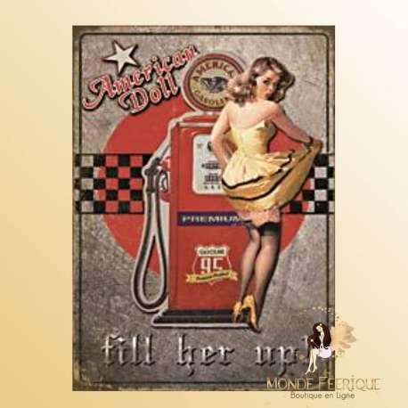 Plaque Vintage Poupée Americaine