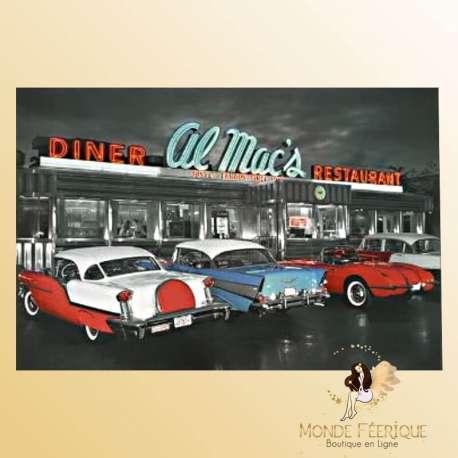 "Plaque Vintage ""Dinner Al Macs Restaurant"""