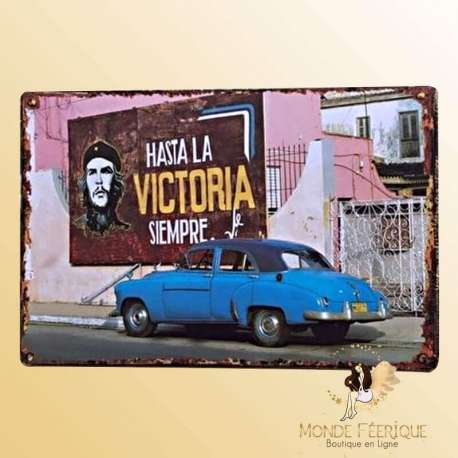 Plaque vintage Cuba Hasta Siempre
