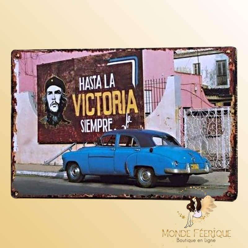 Plaque vintage Cuba Hasta Victoria Siempre