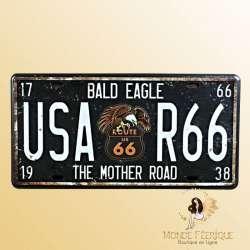 """Plaque vintage """"Bad Eagle Route 66"""""""