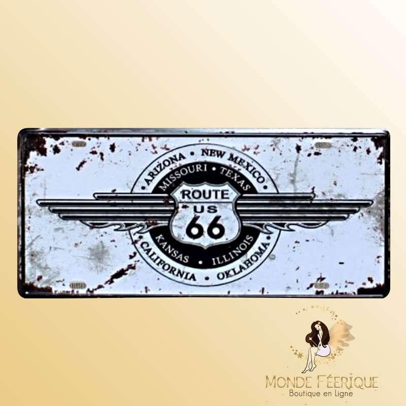 Plaque Vintage Route 66 The Standard