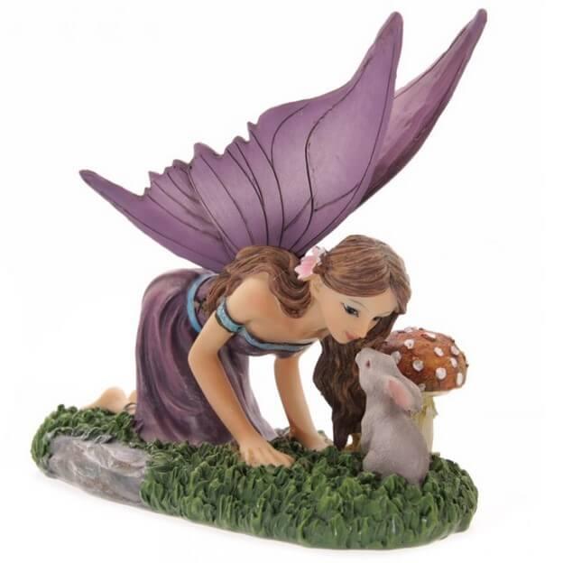 Figurine Fée Animaux de la Forêt -- 14*16cm