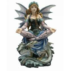 Figurine Fée Géante Méditation -- 31cm