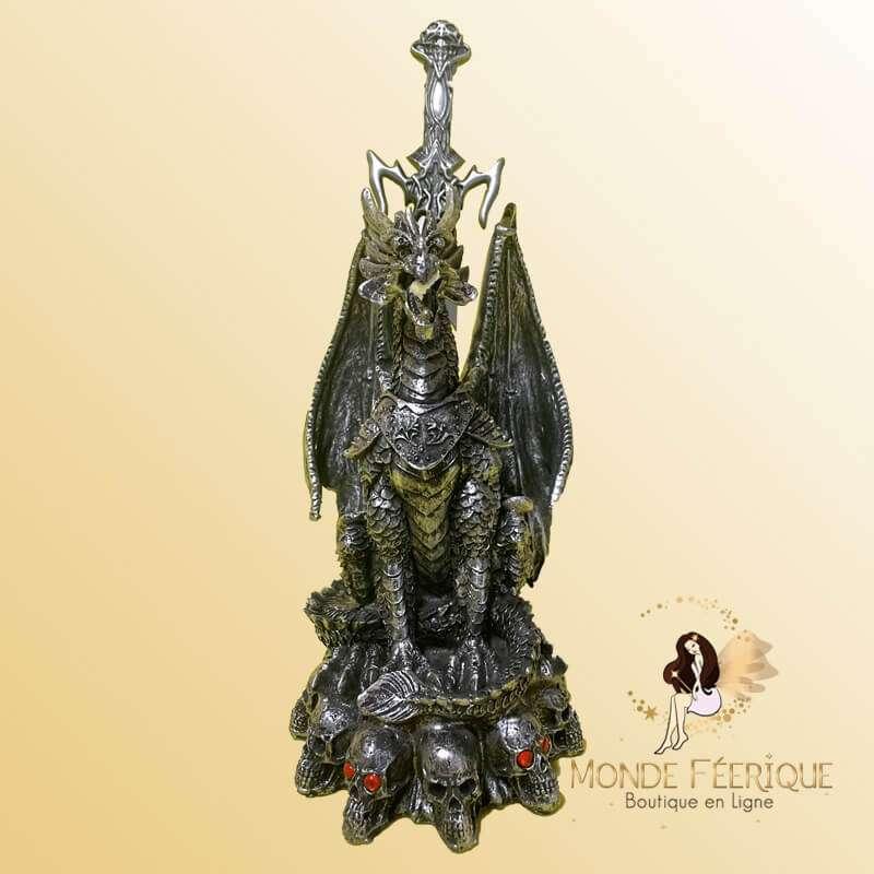 Statue Dragon l'Epee du Graal 28cm