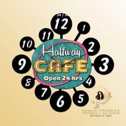 Horloge Vintage Café H24