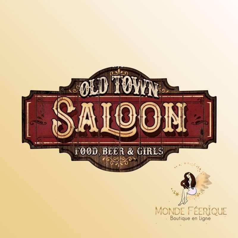 Plaque vintage Saloon