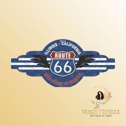 Plaque rétro Route 66 BIG