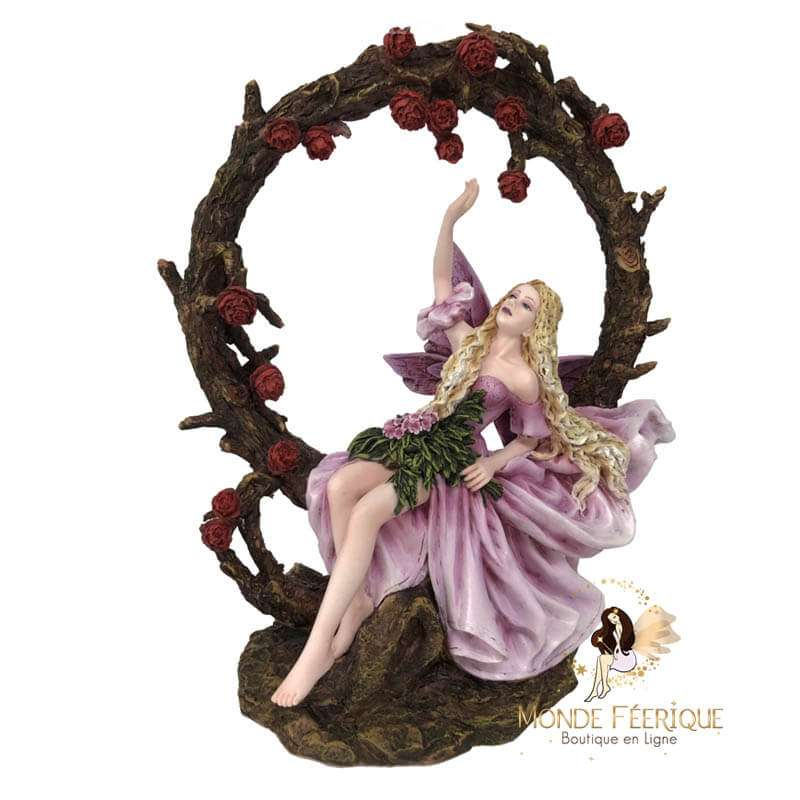 Figurine Fee Rosa