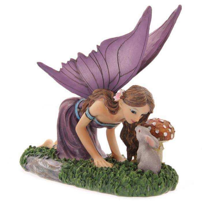 Figurine Fée Animaux de la Forêt -- 14x16cm