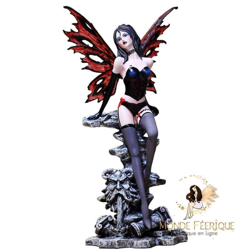 Figurine Fée Sexy Ailes Rouge 30cm