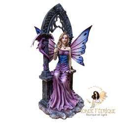 figurine fée violette