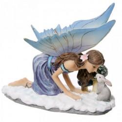 Figurine Fée Animaux de la Forêt Hiver -- 14x16cm